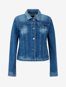 ARMANI EXCHANGE WASHED INDIGO DENIM TRUCKER JACKET Denim Jacket [*** pickupInStoreShipping_info ***] r