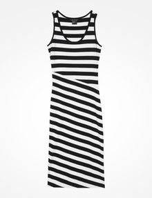 ARMANI EXCHANGE STRIPED BIAS CUT JERSEY DRESS Midi dress D b