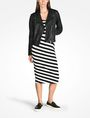 ARMANI EXCHANGE STRIPED BIAS CUT JERSEY DRESS Midi dress D a