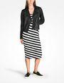 ARMANI EXCHANGE STRIPED BIAS CUT JERSEY DRESS Midi dress Woman a