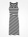 ARMANI EXCHANGE STRIPED BIAS CUT JERSEY DRESS Midi dress Woman b
