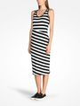 ARMANI EXCHANGE STRIPED BIAS CUT JERSEY DRESS Midi dress D d