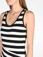 ARMANI EXCHANGE STRIPED BIAS CUT JERSEY DRESS Midi dress D e