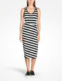 ARMANI EXCHANGE STRIPED BIAS CUT JERSEY DRESS Midi dress Woman f