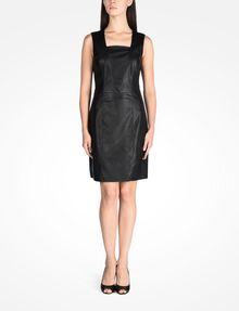 ARMANI EXCHANGE FAUX LEATHER DRESS Mini dress D a