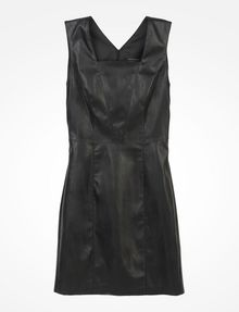 ARMANI EXCHANGE FAUX LEATHER DRESS Mini dress D b
