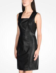 ARMANI EXCHANGE FAUX LEATHER DRESS Mini dress Woman d