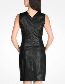 ARMANI EXCHANGE FAUX LEATHER DRESS Mini dress Woman r