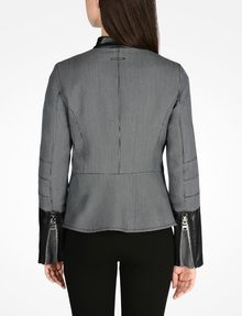 ARMANI EXCHANGE HOUNDSTOOTH MOTO JACKET Jacket D r