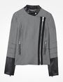 ARMANI EXCHANGE HOUNDSTOOTH MOTO JACKET Jacket D b