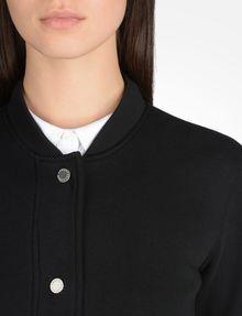 ARMANI EXCHANGE LACE BACK KNIT BOMBER JACKET Fleece Jacket D e