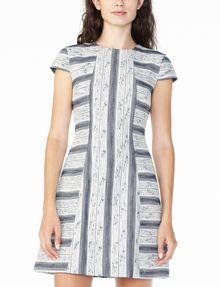 ARMANI EXCHANGE JACQUARD HOURGLASS DRESS Mini dress Woman f