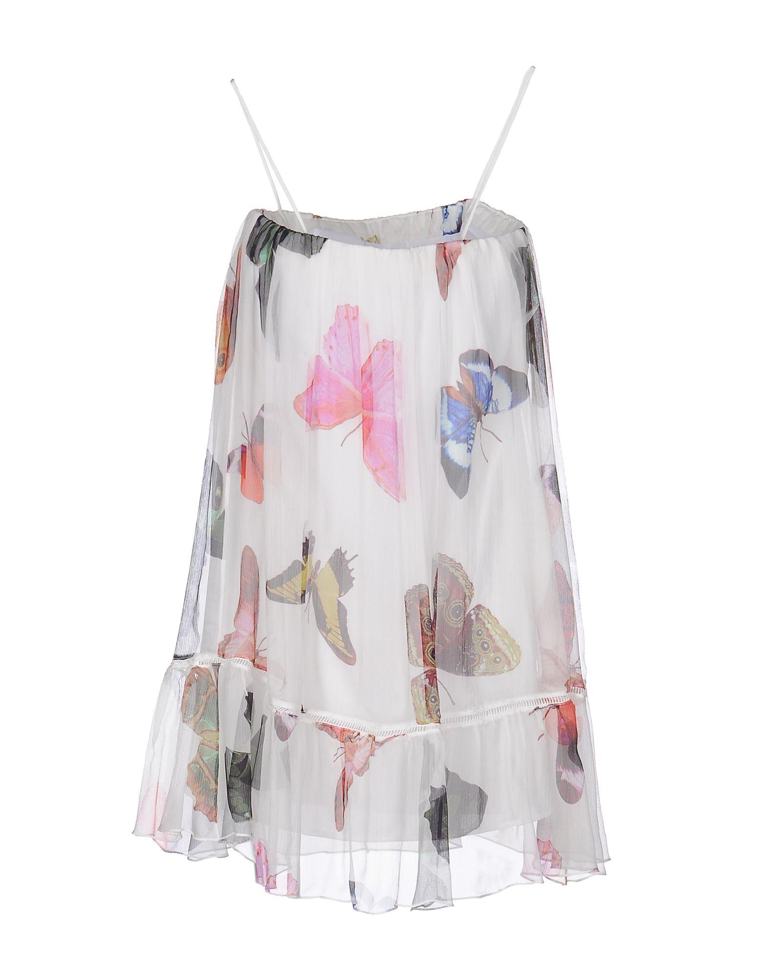 ATOS LOMBARDINI Короткое платье lovaru ™летом стиль 2015 шифон рукавов шить цветной печати мини платье моды случайные платье