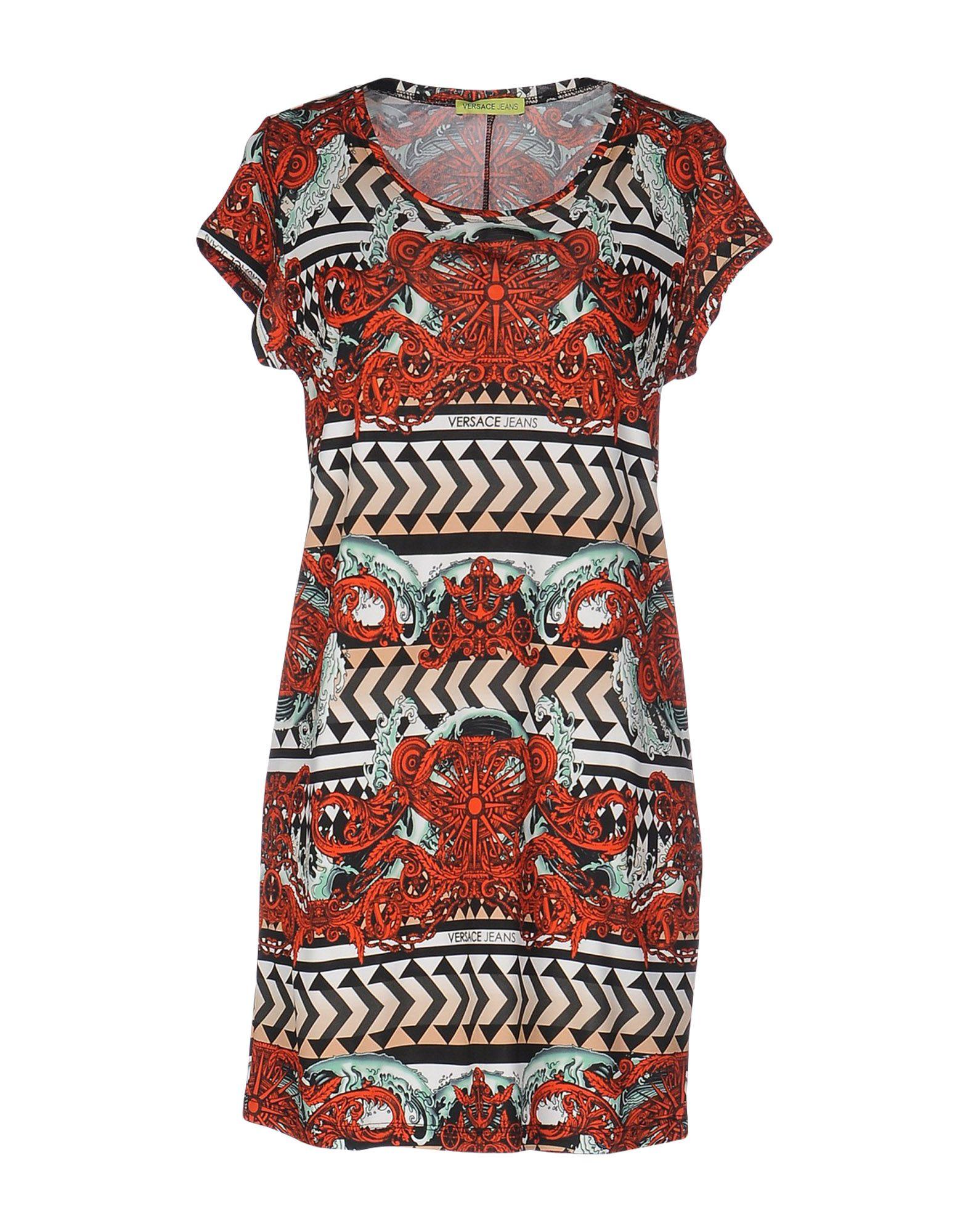 VERSACE JEANS Damen Kurzes Kleid Farbe Rot Größe 5 - broschei