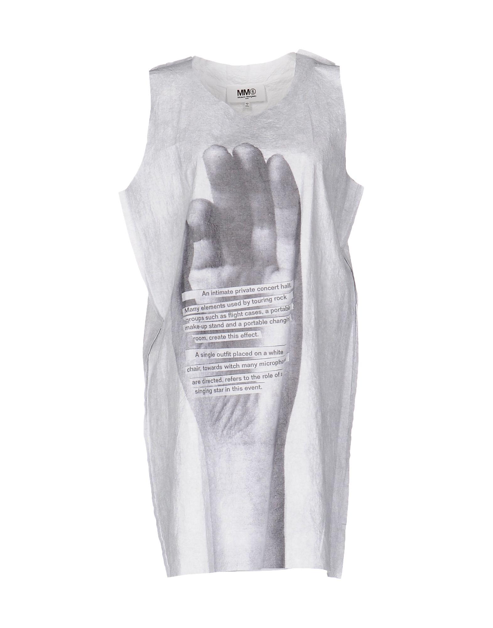 MM6 MAISON MARGIELA Damen Kurzes Kleid Farbe Weiß Größe 5 - broschei