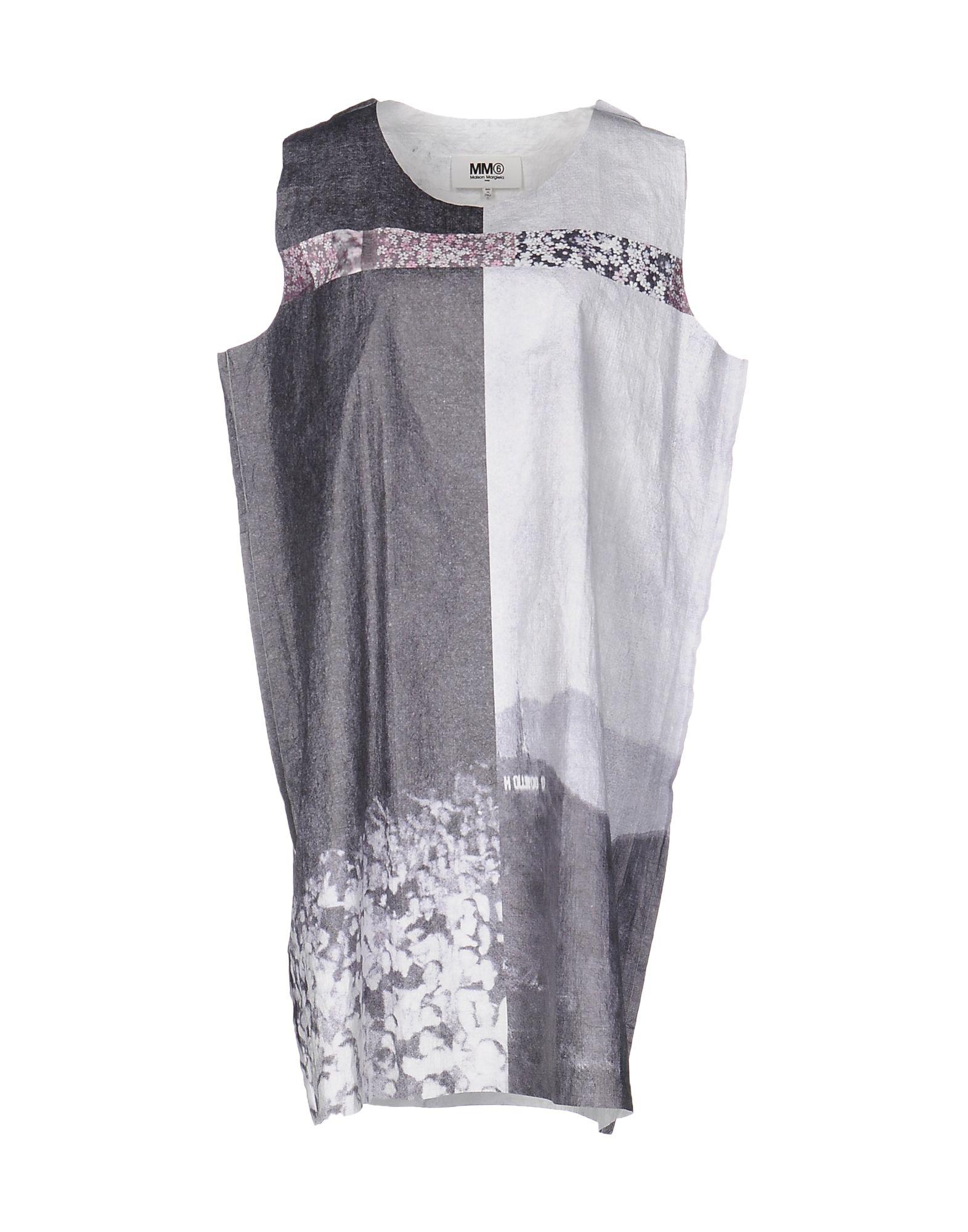 MM6 MAISON MARGIELA Damen Kurzes Kleid Farbe Blei Größe 6 - broschei