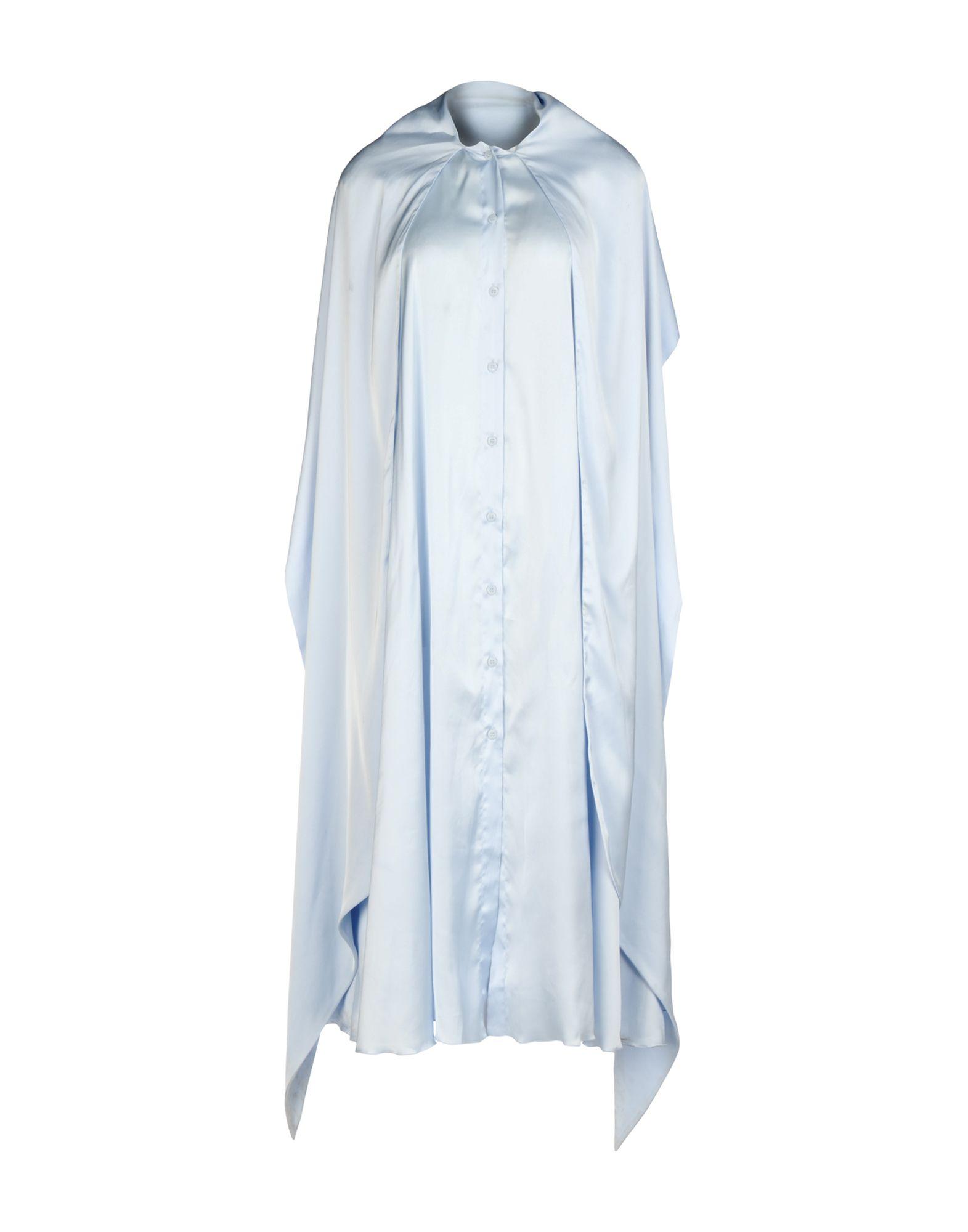 MM6 MAISON MARGIELA Damen Midikleid Farbe Himmelblau Größe 4 - broschei