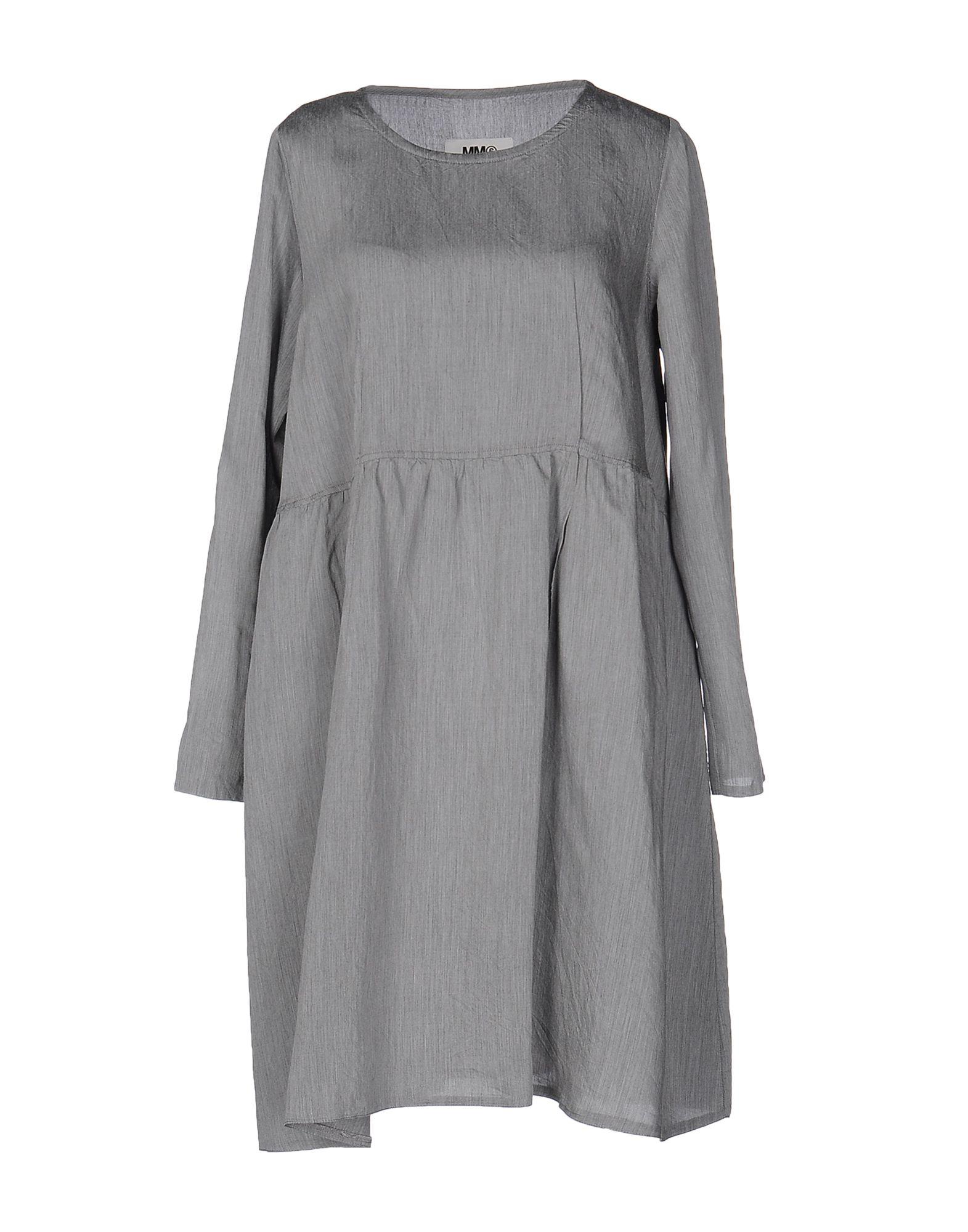 MM6 MAISON MARGIELA Damen Kurzes Kleid Farbe Grau Größe 5 - broschei
