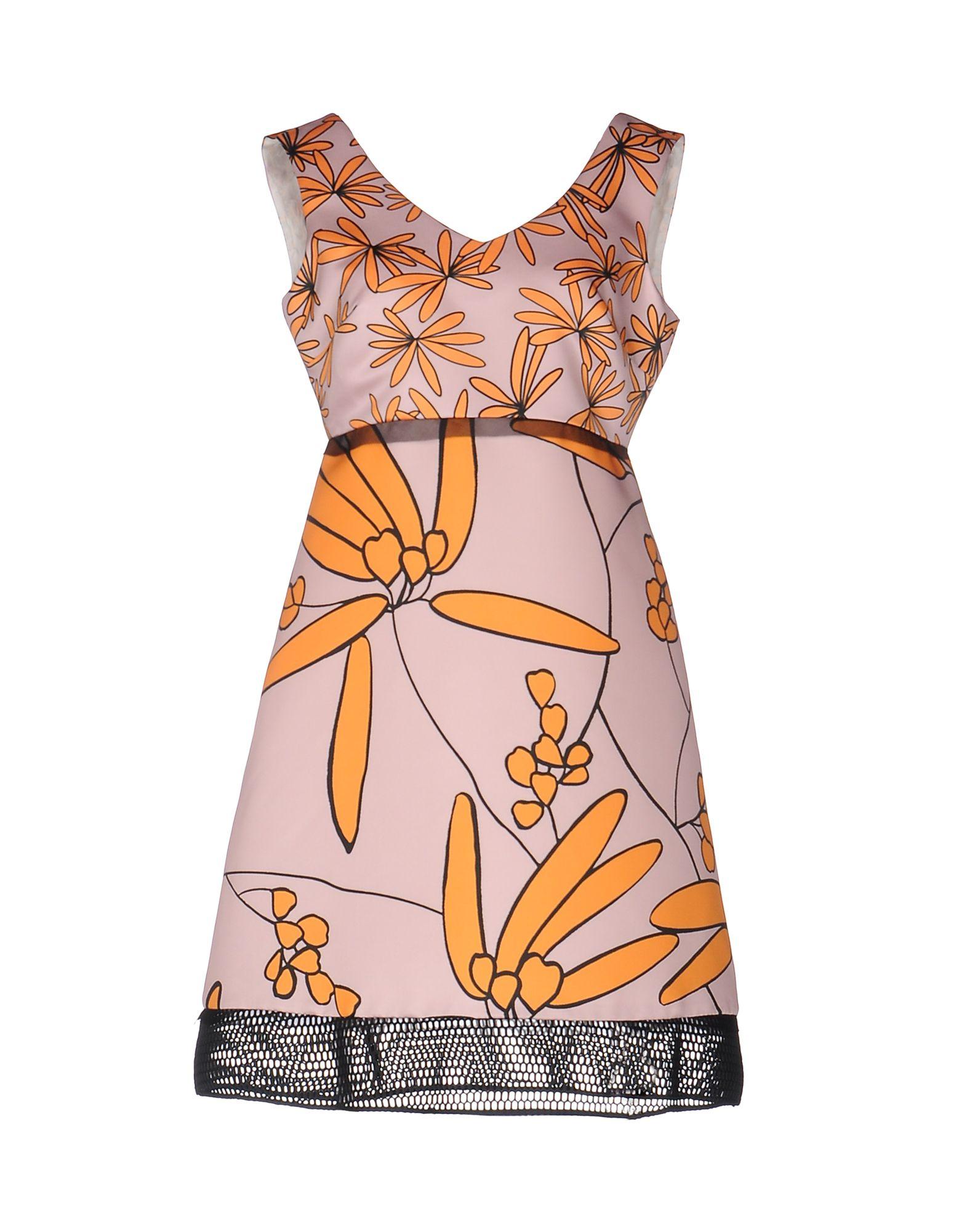1-ONE Damen Kurzes Kleid Farbe Rosa Größe 7 - broschei