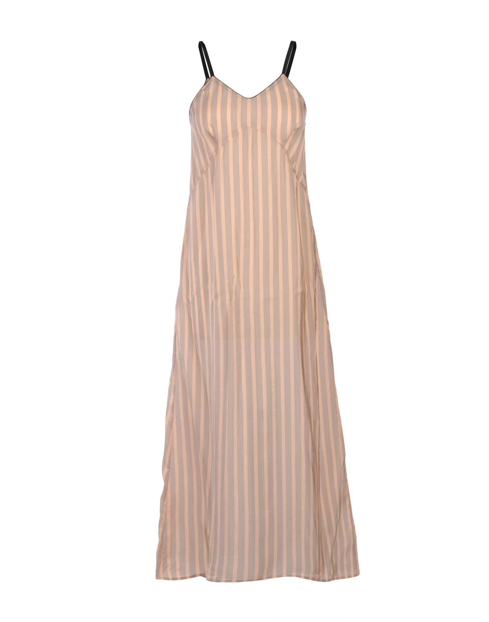 FORTE-FORTE Damen Langes Kleid Farbe Nude Größe 1 - broschei