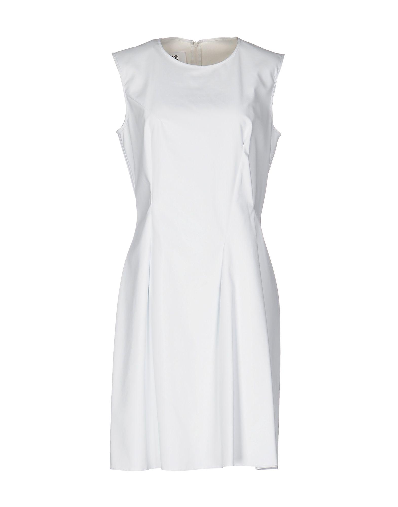 MM6 MAISON MARGIELA Damen Kurzes Kleid Farbe Weiß Größe 4 - broschei