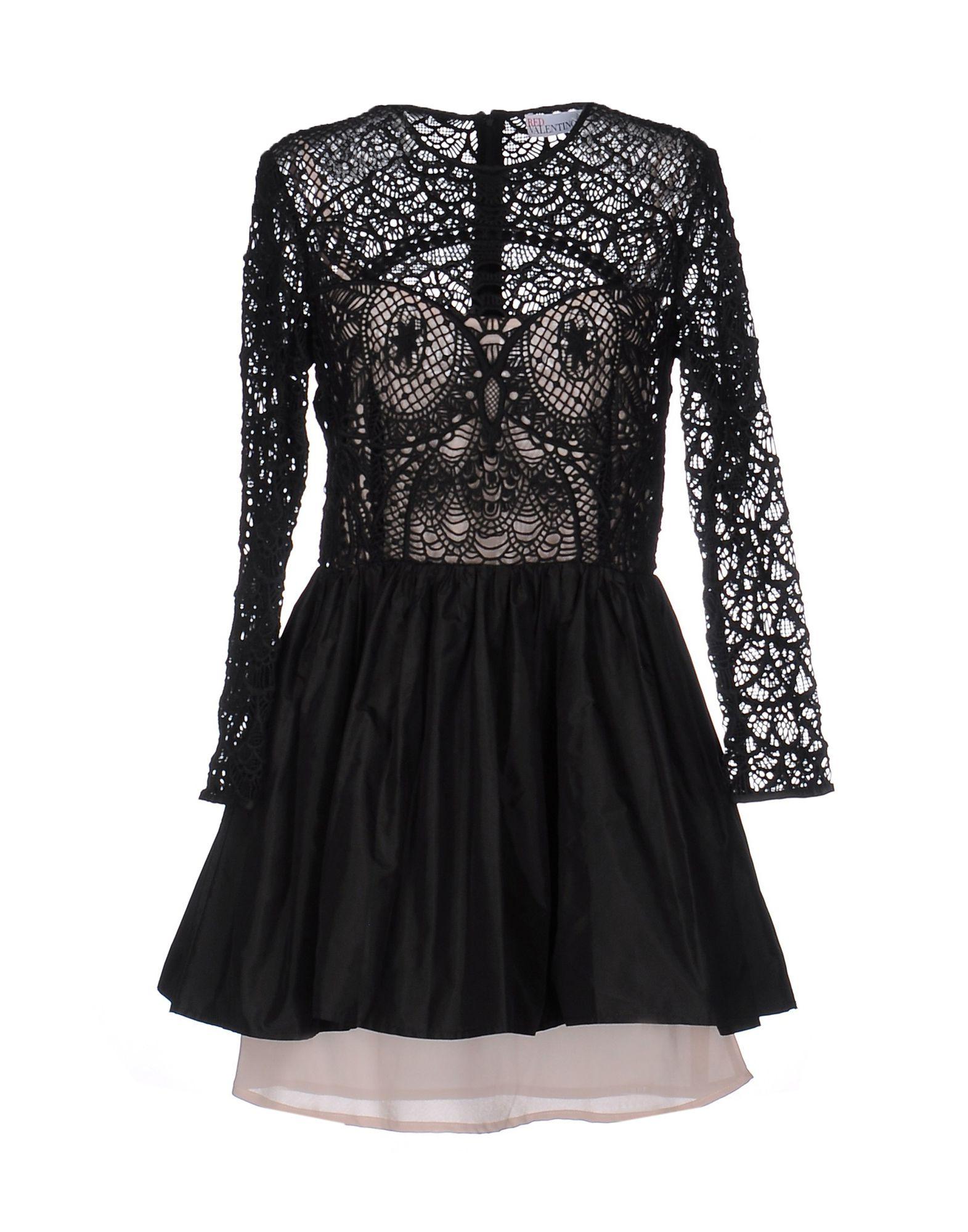 REDValentino Damen Kurzes Kleid Farbe Schwarz Größe 6 - broschei