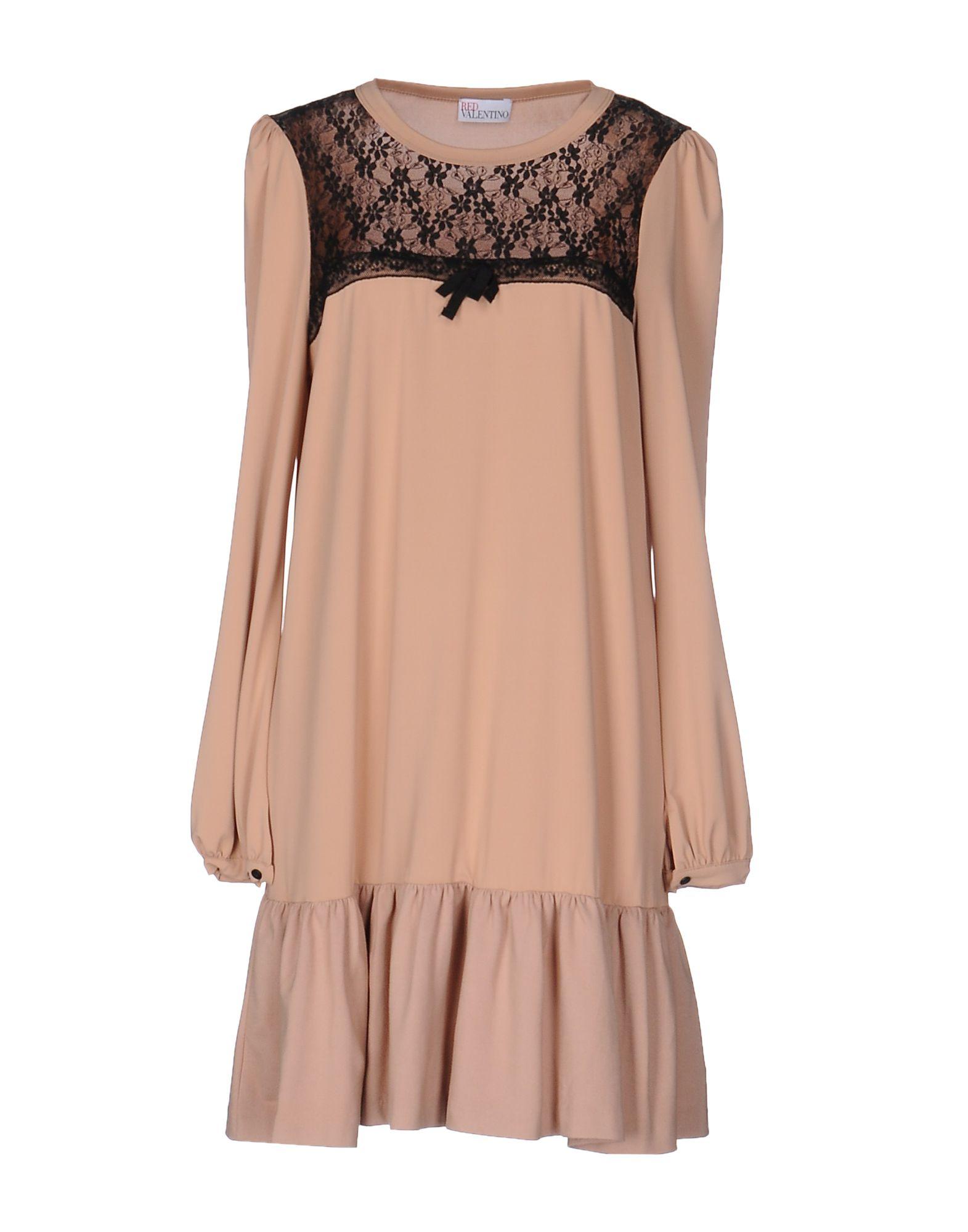 REDValentino Damen Kurzes Kleid Farbe Nude Größe 7 - broschei