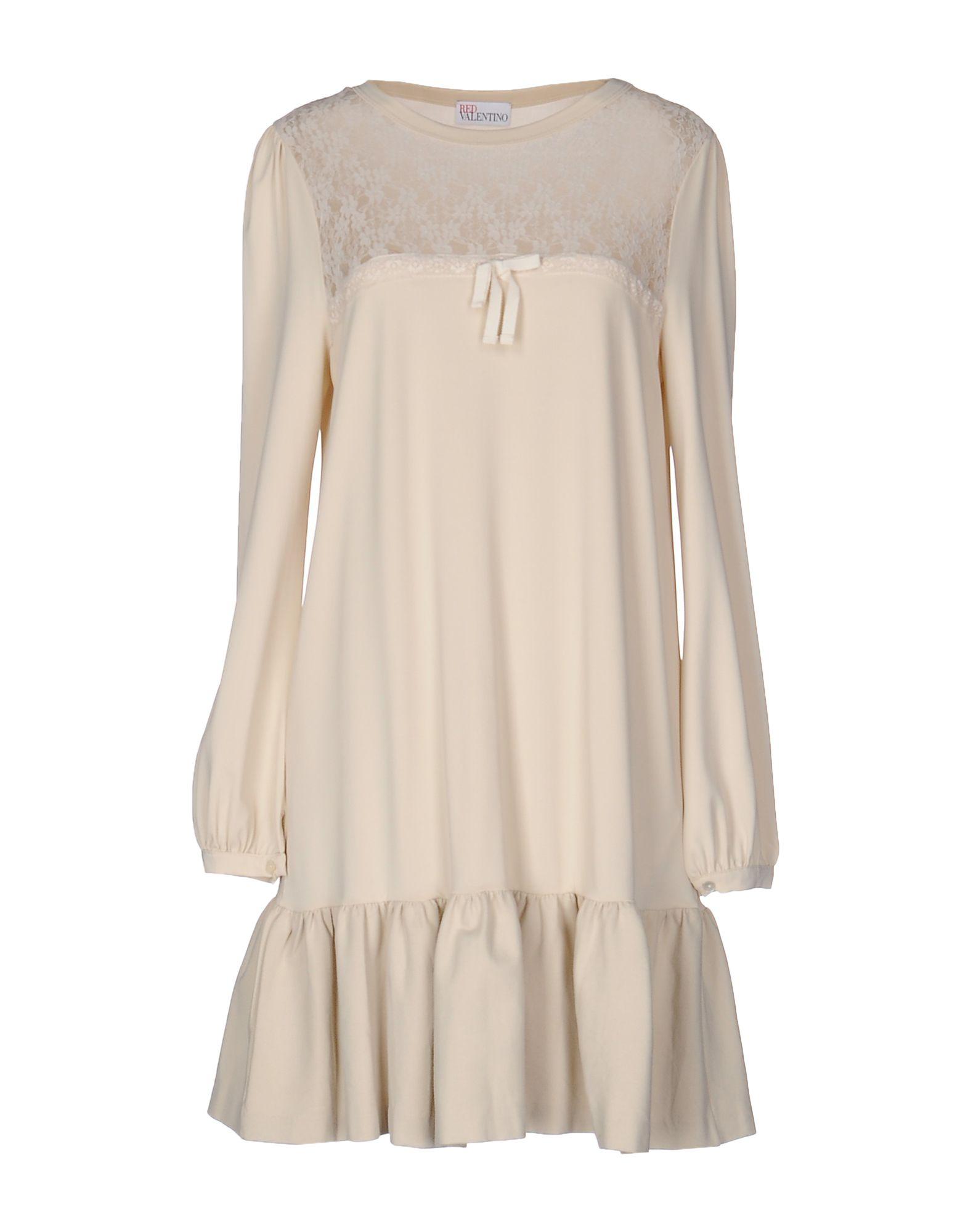 REDValentino Damen Kurzes Kleid Farbe Beige Größe 7 - broschei