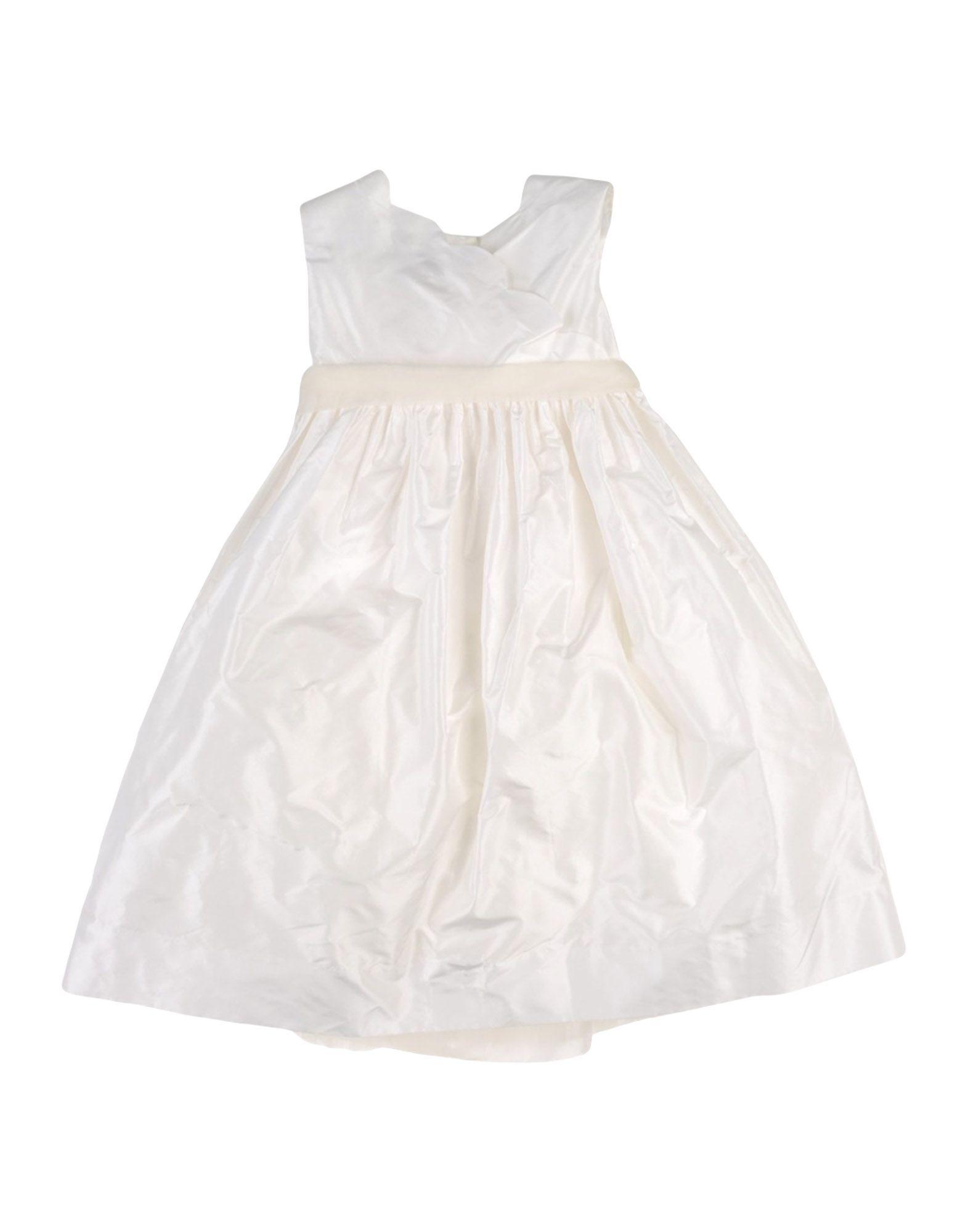 LA STUPENDERIA Mädchen 3-8 jahre Kleid Farbe Weiß Größe 4 - broschei