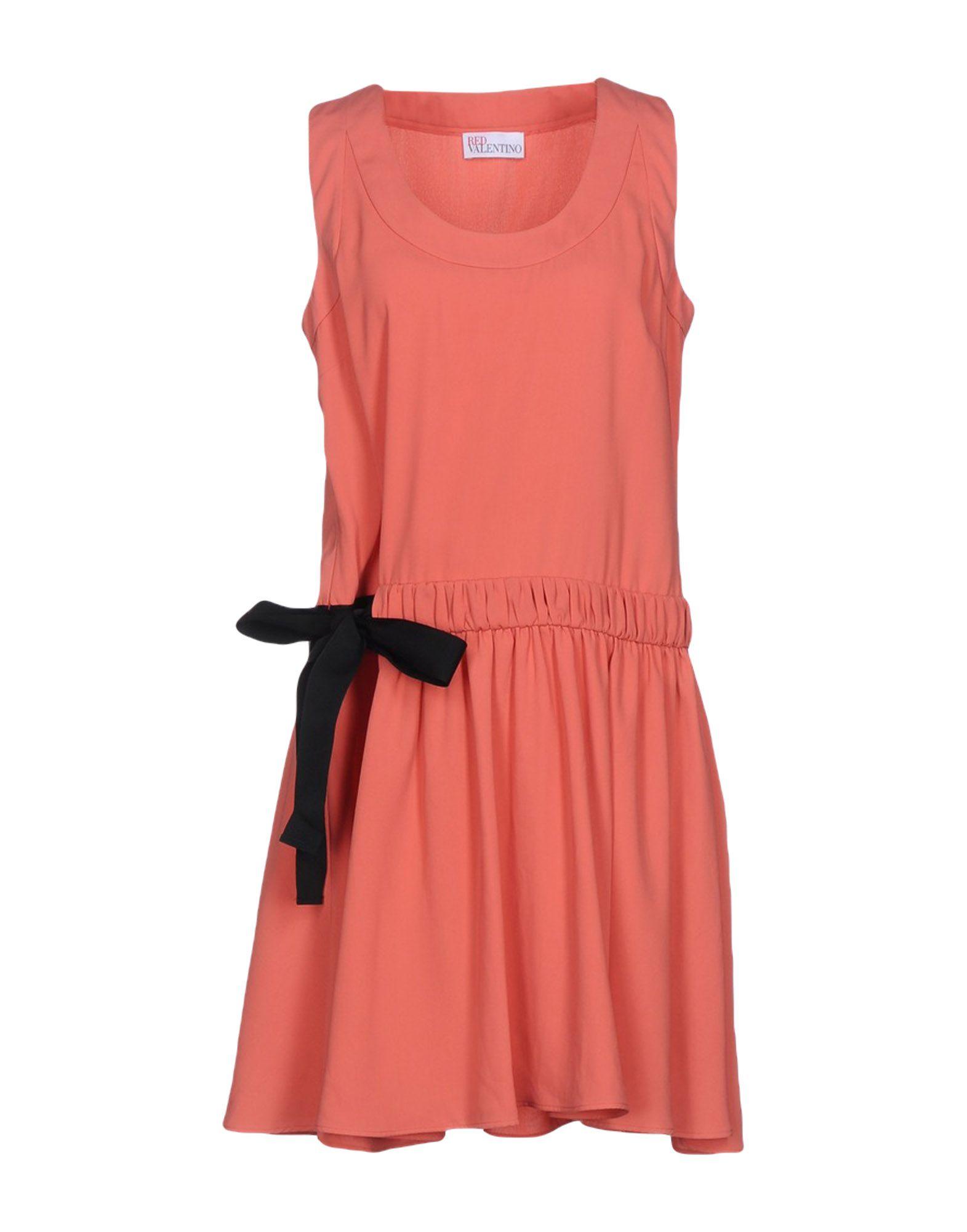 REDValentino Damen Kurzes Kleid Farbe Koralle Größe 6 - broschei