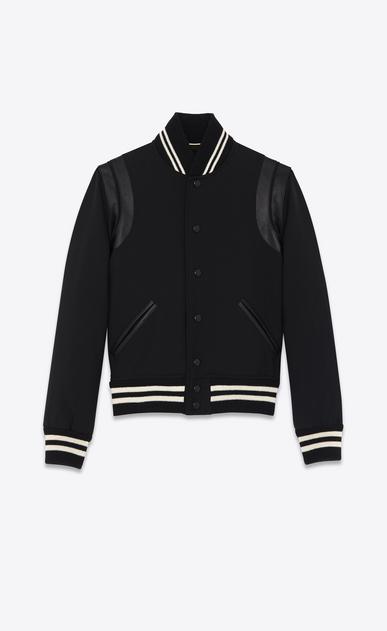 SAINT LAURENT Casual Jackets D classic teddy jacket in black wool gabardine v4