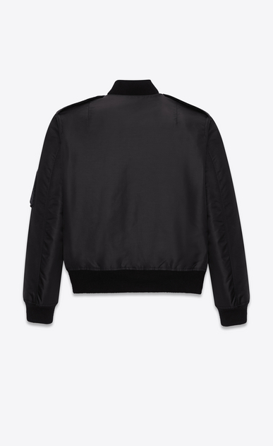 SAINT LAURENT Casual Jackets D classic bomber jacket in black nylon b_V4