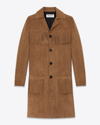 SAINT LAURENT Lederjacke D Classic CURTIS Coat in Tobacco Suede f