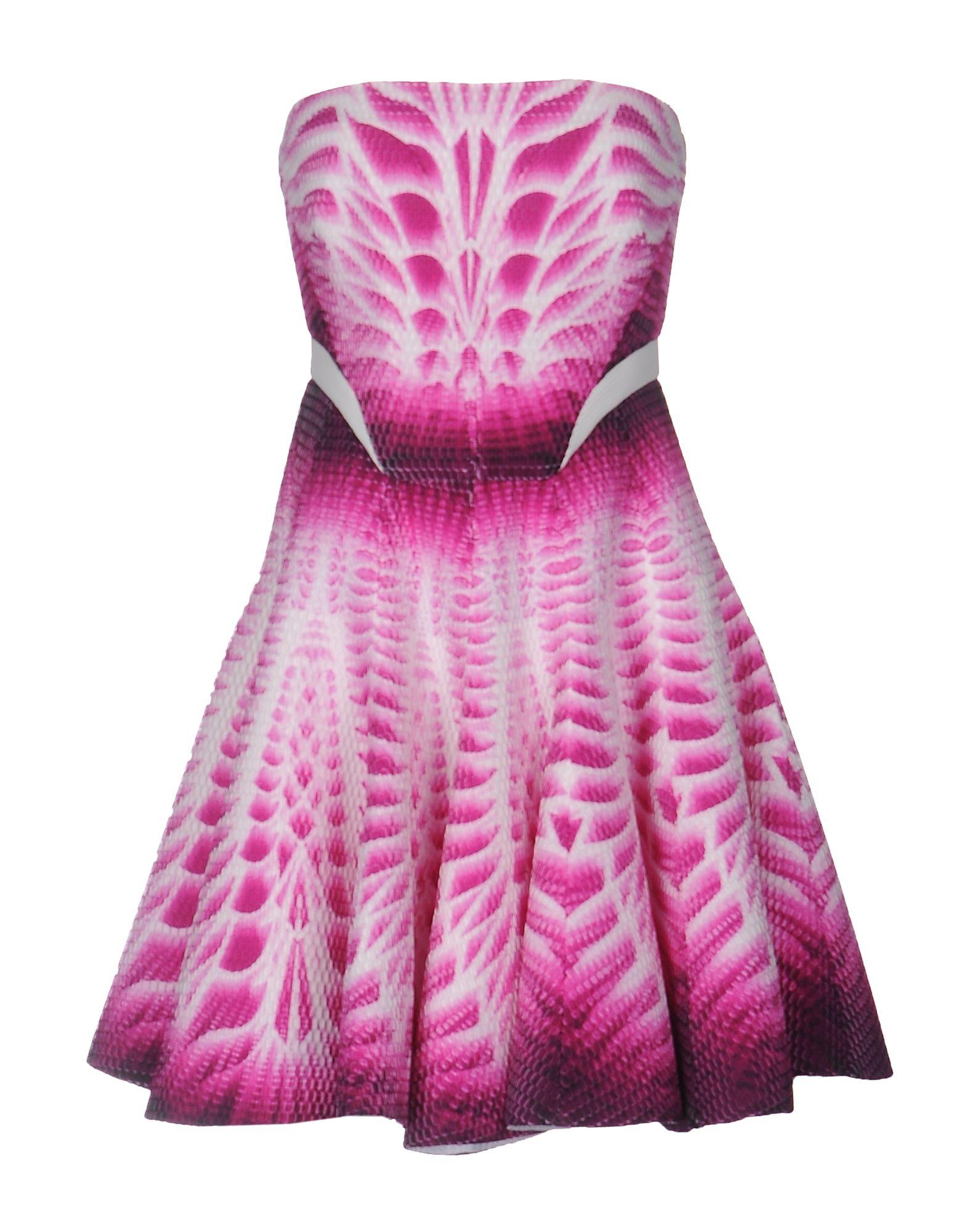 MANUEL FACCHINI Short Dresses in Fuchsia