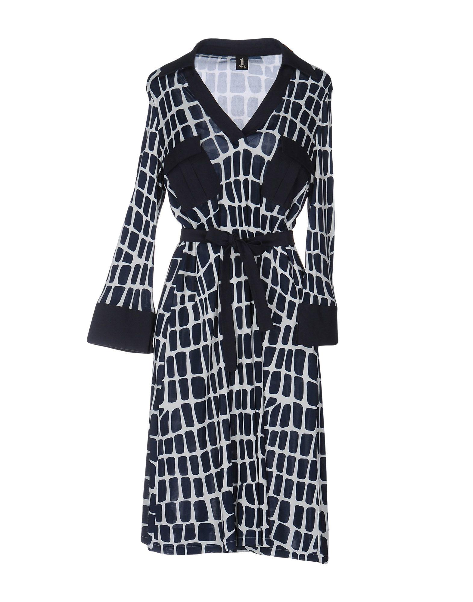 где купить  1-ONE Платье до колена  по лучшей цене