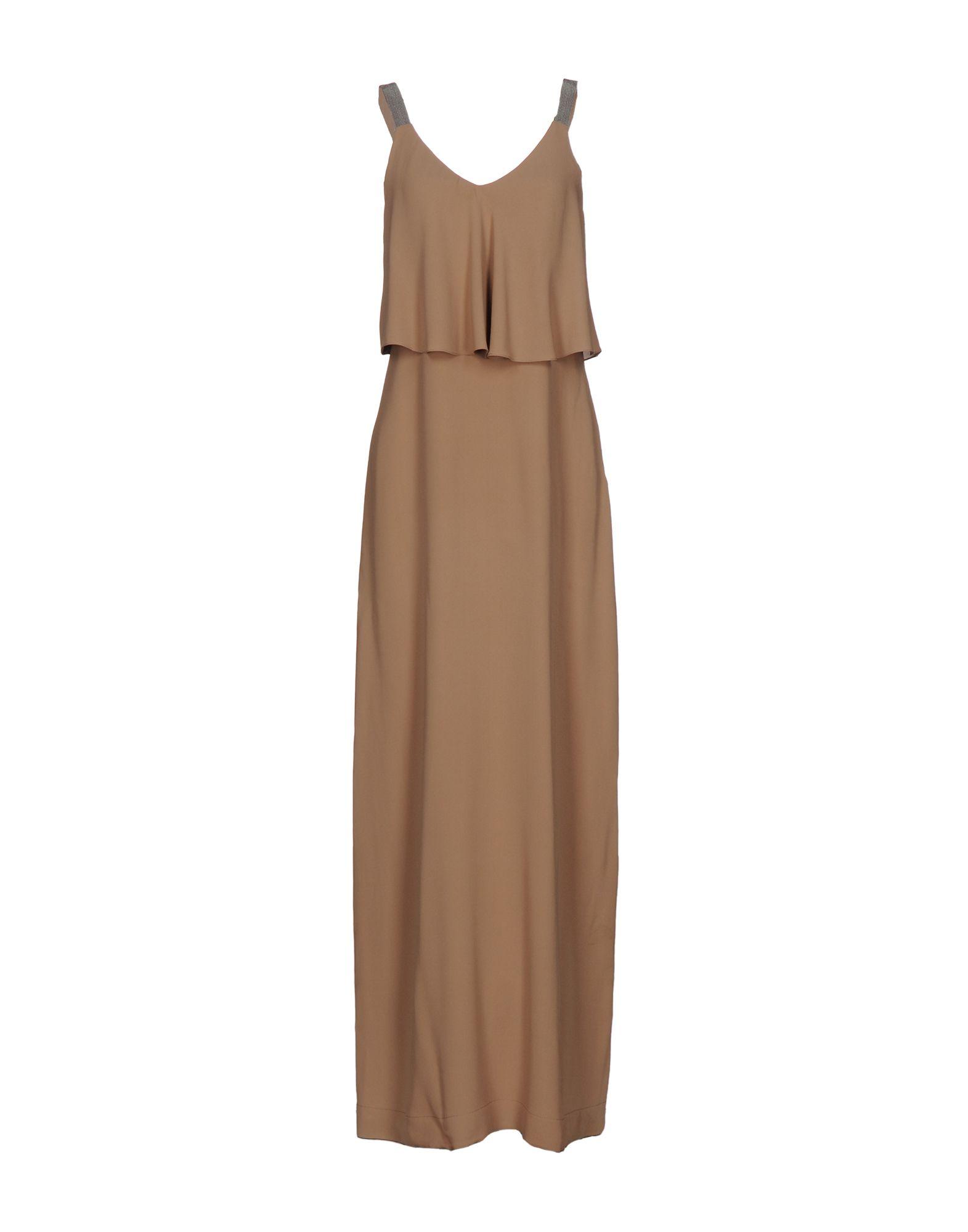 BRUNELLO CUCINELLI Длинное платье платье длинное без рукавов из кружева bina