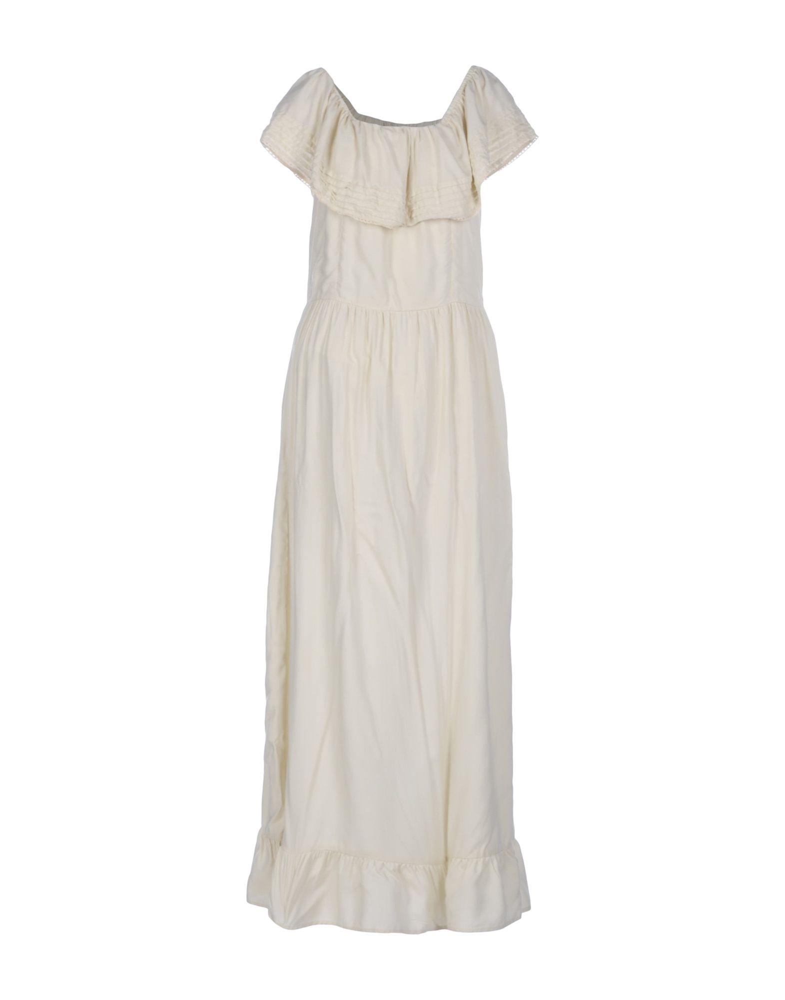 MAISON HOTEL Damen Langes Kleid Farbe Elfenbein Größe 5