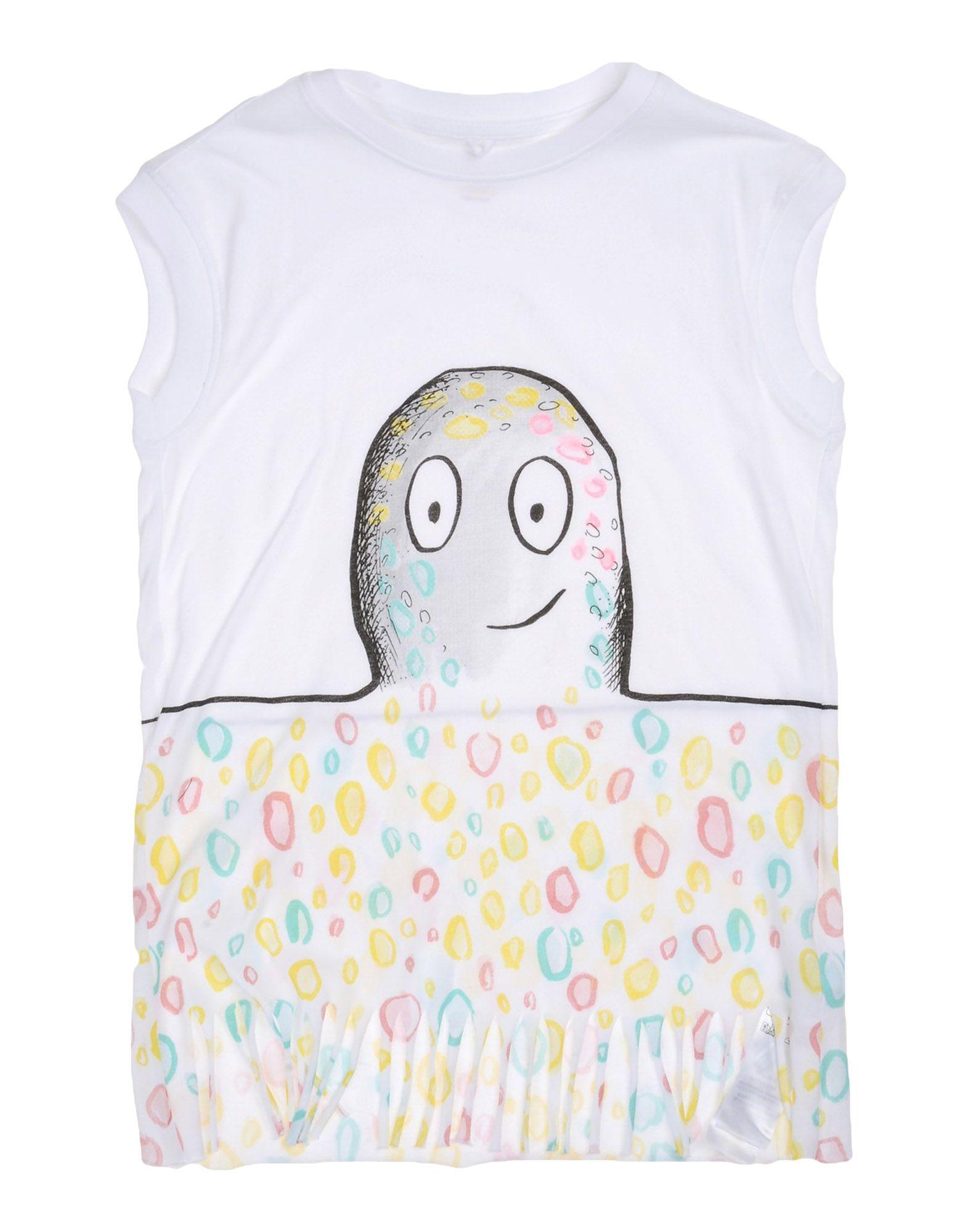 《送料無料》STELLA McCARTNEY KIDS ガールズ 3-8 歳 ワンピース&ドレス ホワイト 3 コットン 100%