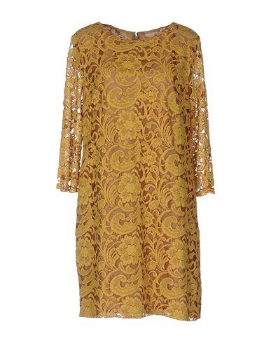 Купить Женское короткое платье  цвет охра