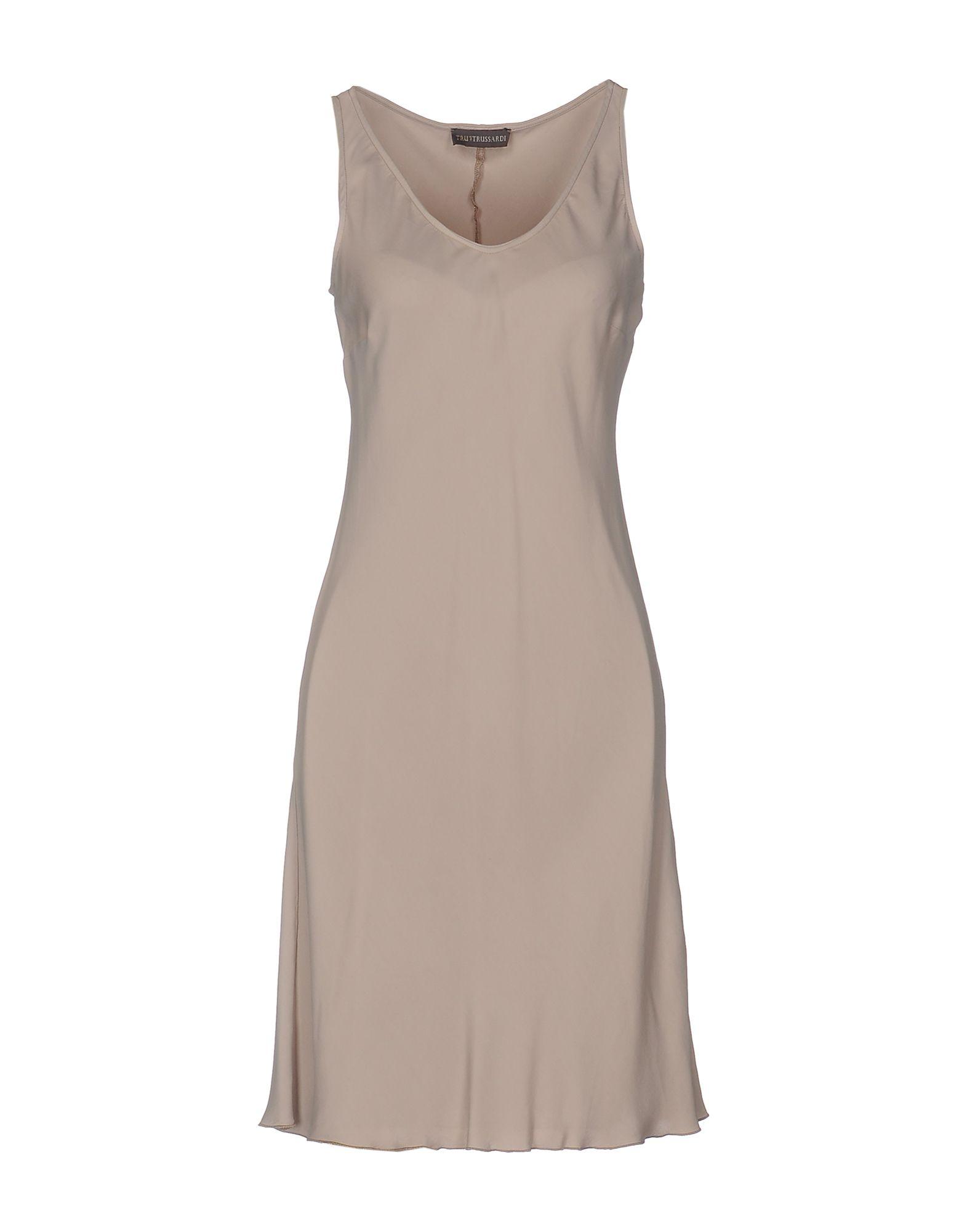 TRU TRUSSARDI Платье до колена повседневное платье без рукавов tru trussardi платья и сарафаны приталенные