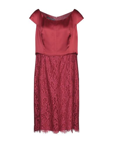 Фото - Платье до колена от BOTONDI MILANO красно-коричневого цвета
