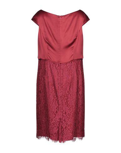 Фото 2 - Платье до колена от BOTONDI MILANO красно-коричневого цвета