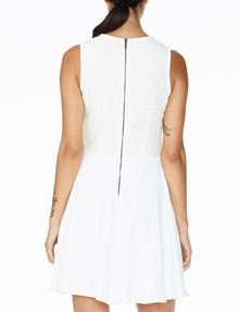 ARMANI EXCHANGE JACQUARD FIT-AND-FLARE Mini dress D r