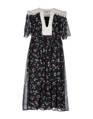 MANOUSH Damen Knielanges Kleid Farbe Schwarz Größe 4 Sale Angebote Haidemühl