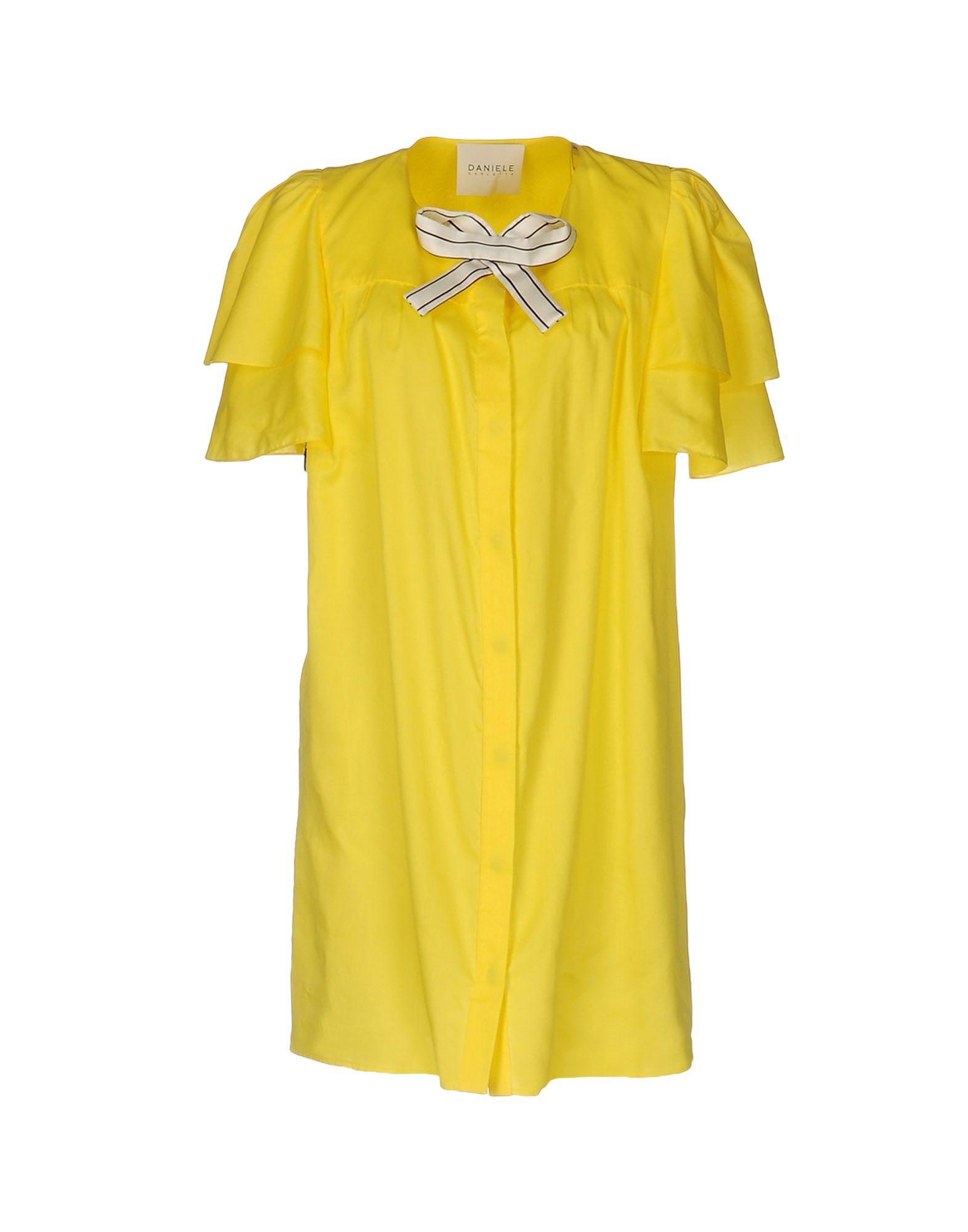 DANIELE CARLOTTA Shirt Dress in Yellow