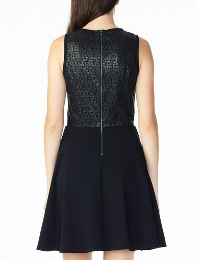 JACQUARD FIT-AND-FLARE