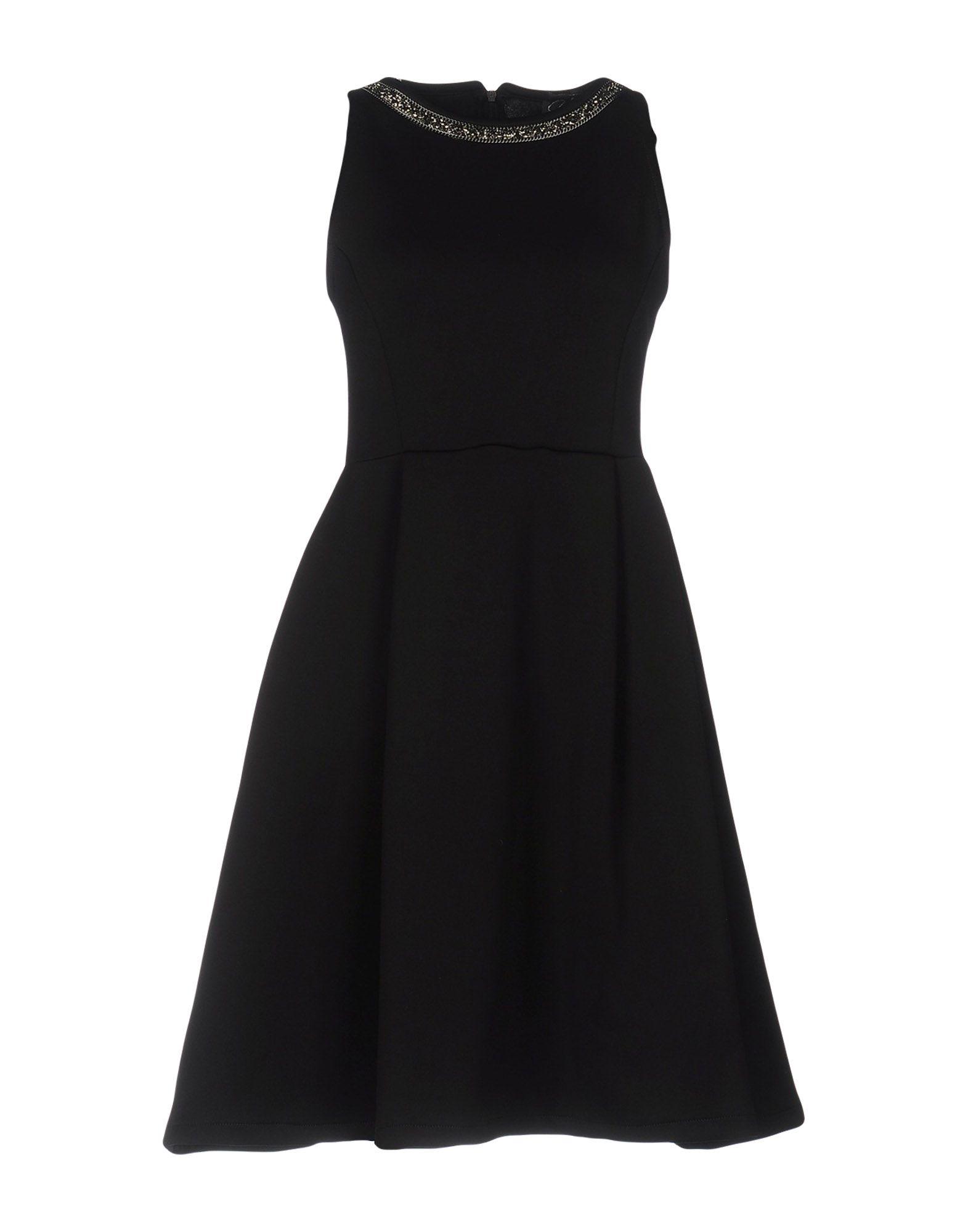 《送料無料》OUI! C'EST MOI レディース ミニワンピース&ドレス ブラック XS 95% ポリエステル 5% ポリウレタン
