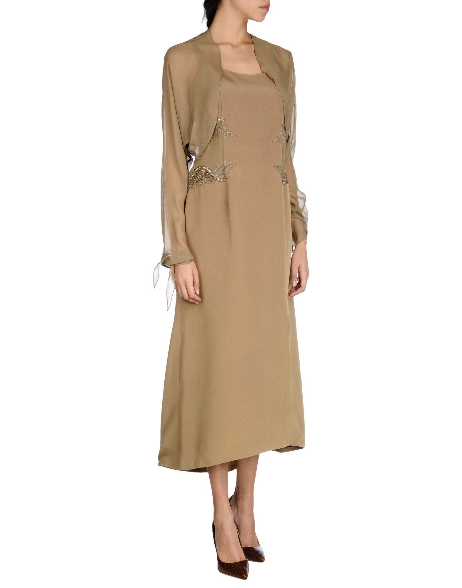 INTELLIGERE MODA Платье длиной 3/4 lisa corti платье длиной 3 4