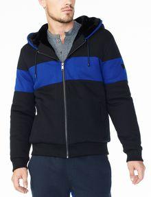 Mens fur lined hoodie jacket