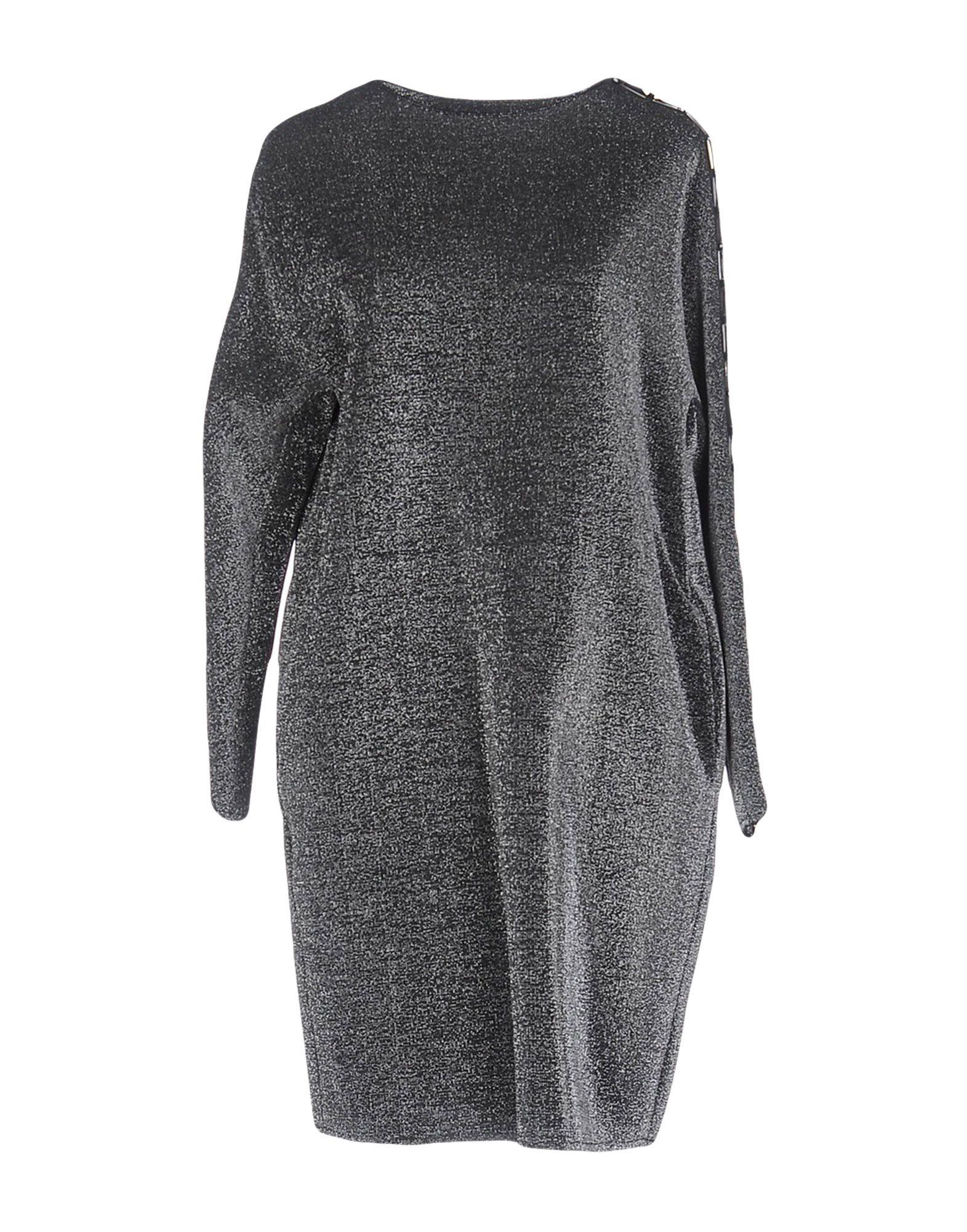 OBLÒ Damen Kurzes Kleid Farbe Blei Größe 4